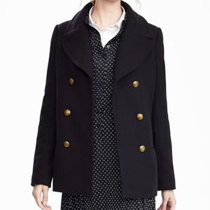 Banana Republic Melton Wool Peacoat XS